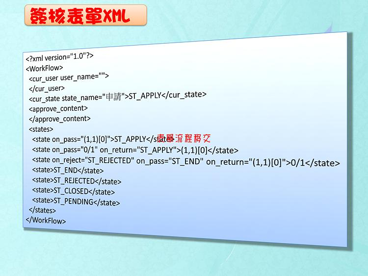 簽核表單XML
