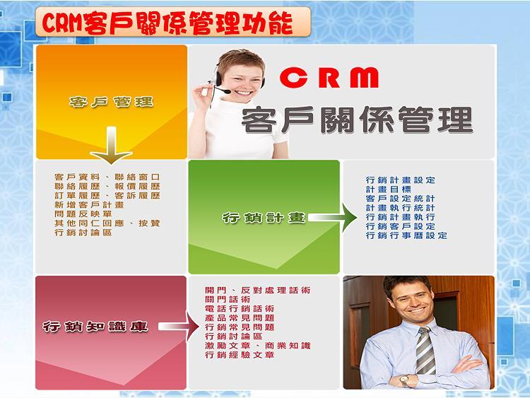 CRM客戶關係管理功能